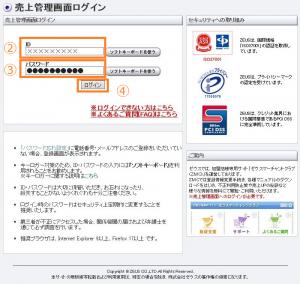 テモナペイメントZの管理画面のログイン方法
